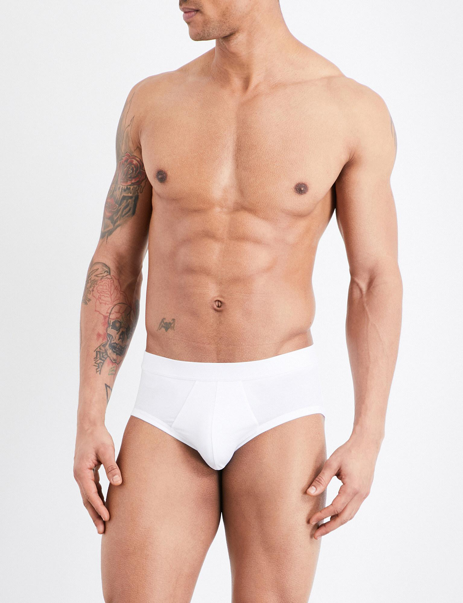 16e8ed5841aee Lyst - La Perla Stretch-cotton Briefs in White for Men