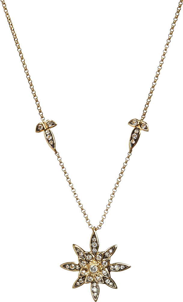 annoushka 14ct yellow gold and sapphire pendant