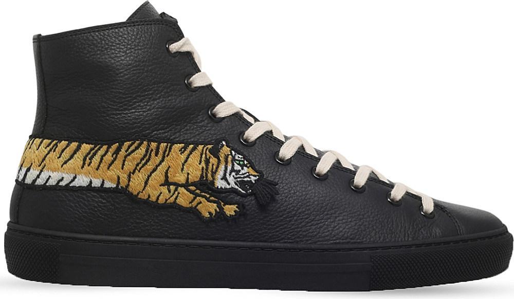 gucci high top tiger