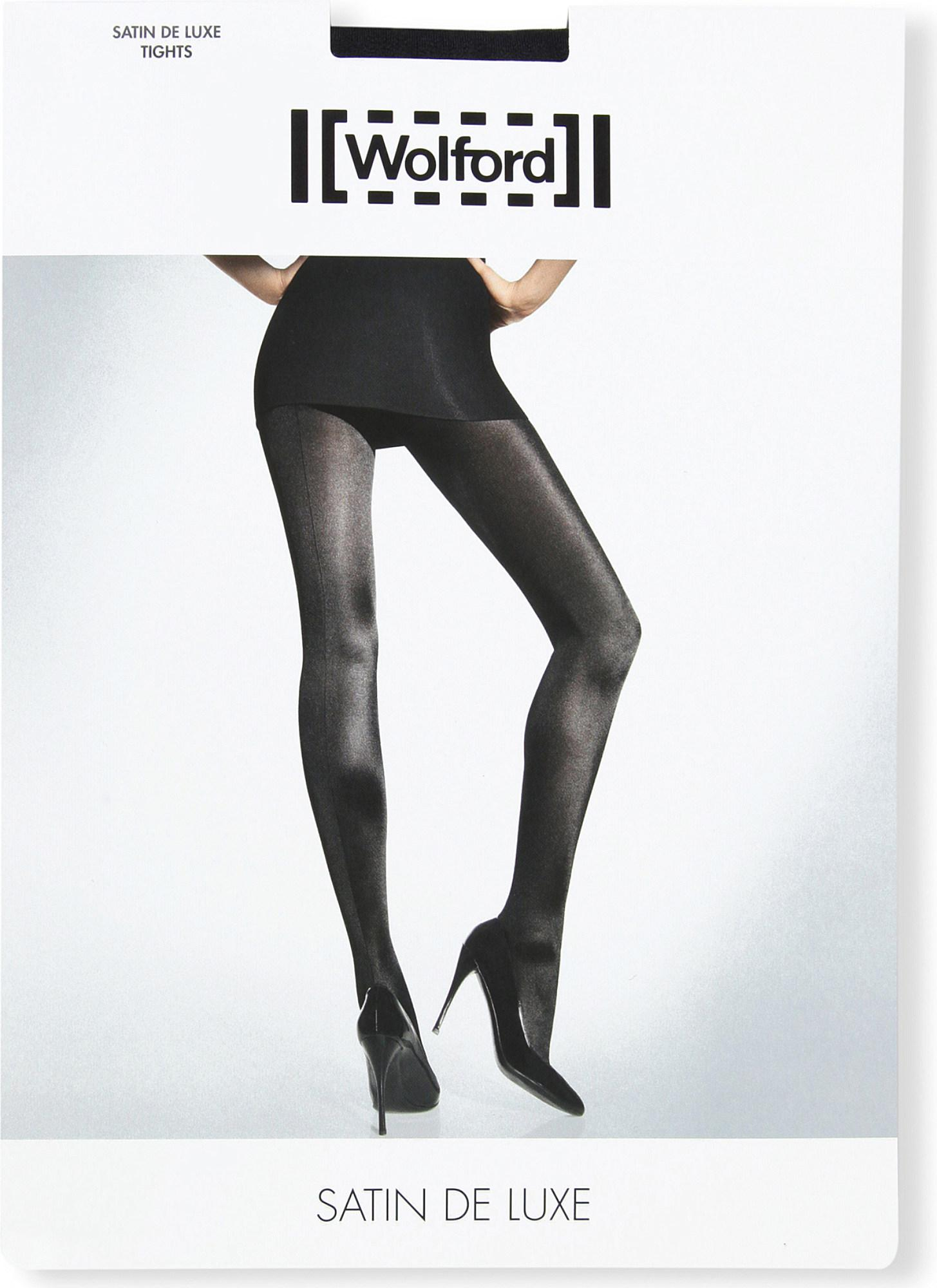 f22060699 Wolford Satin De Luxe 50 Tights in Black - Lyst