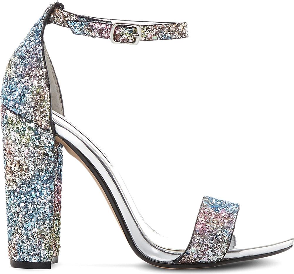 Lyst Steve Madden Carrson Glitter Sandals In Metallic