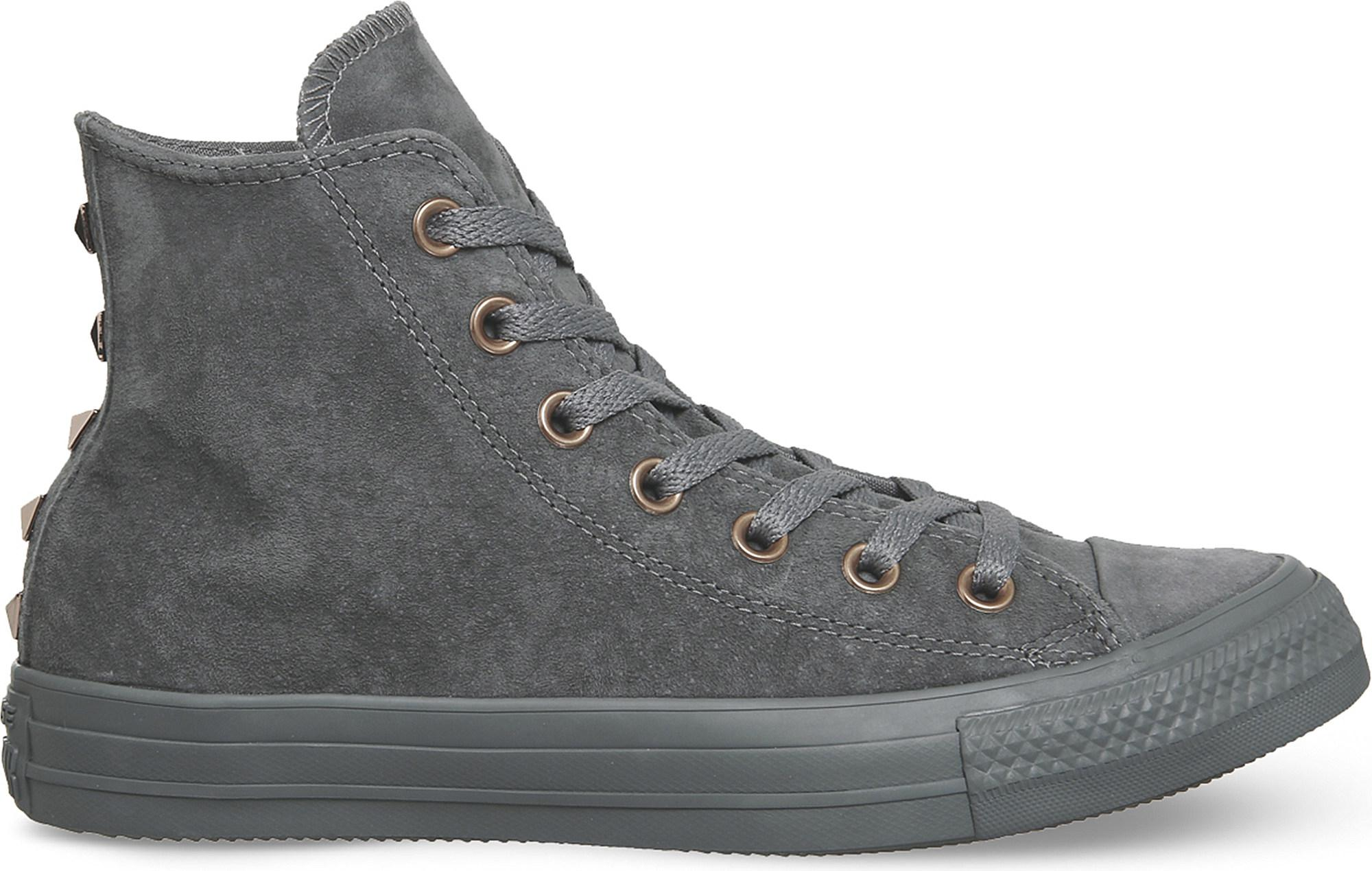 Studded Suede Trainers