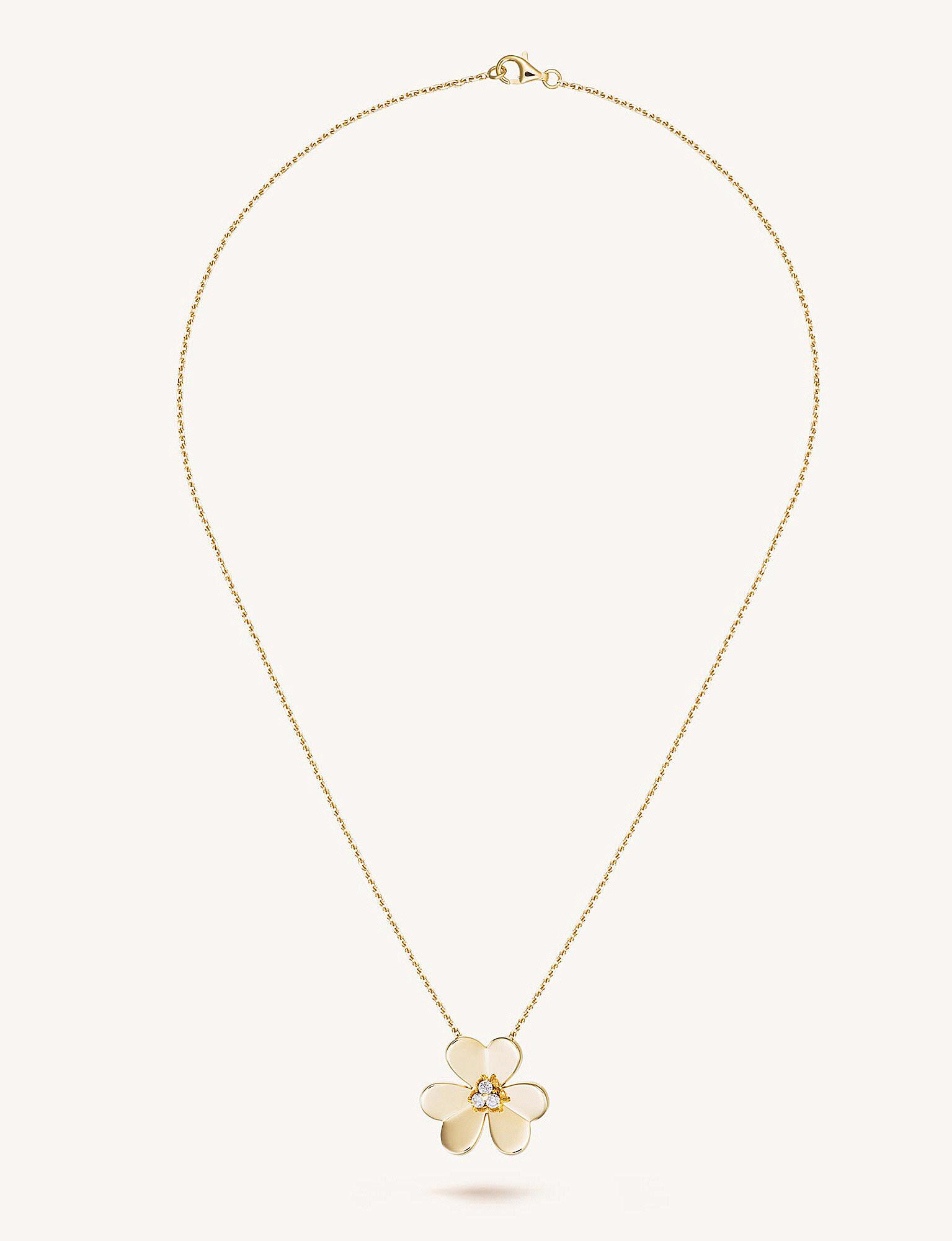 Lyst van cleef arpels frivole gold and diamond large pendant in van cleef arpels aloadofball Image collections