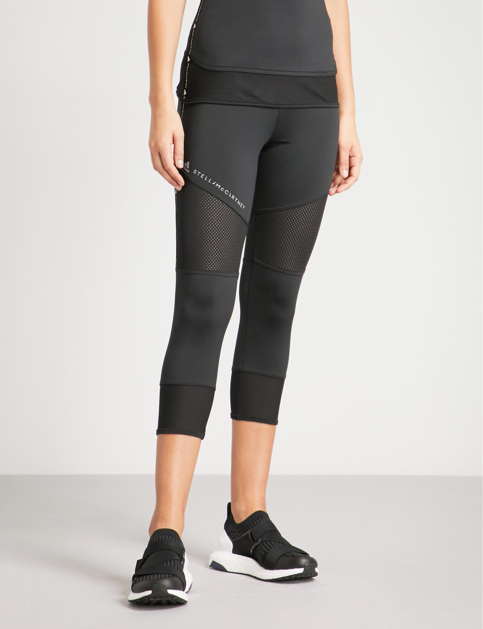 50752447fd898 Tap to visit site. Adidas By Stella McCartney - Womens Black Performance  Essentials Cropped Jersey Leggings ...