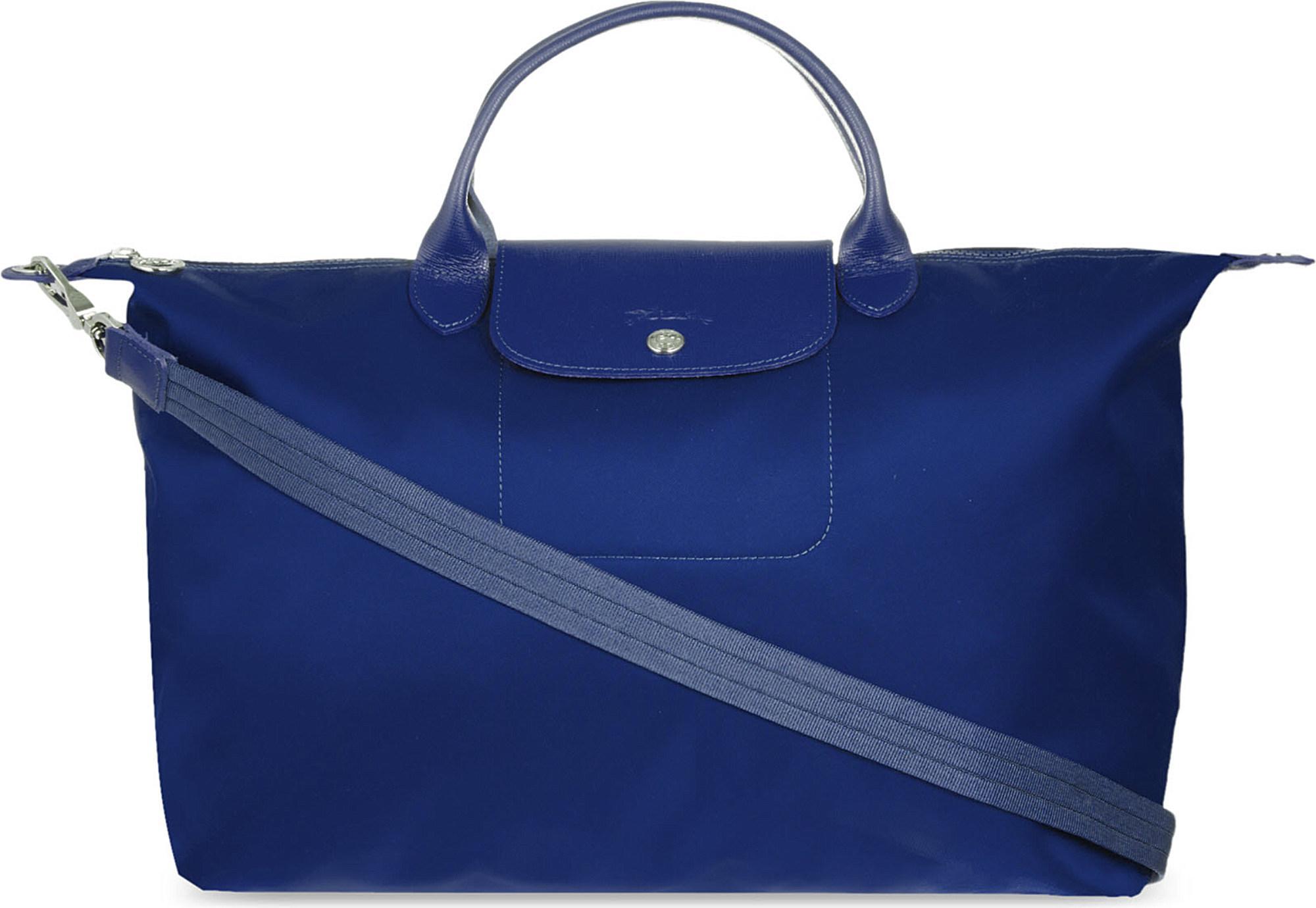 9f41b7601489 Longchamp Le Pliage Neo Large Handbag in Blue - Lyst