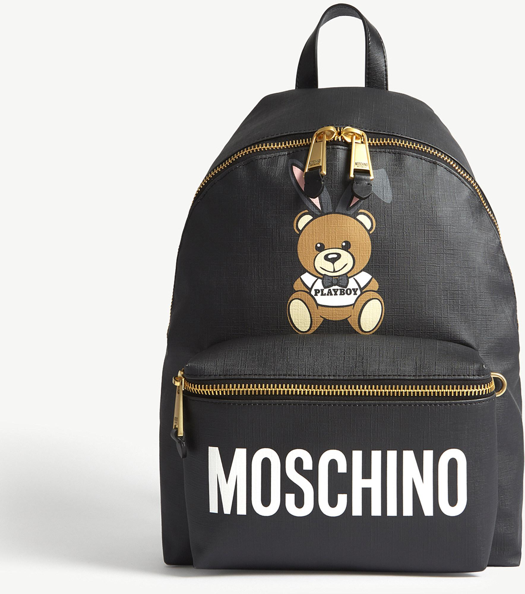 Oso Mochila - Moschino Negro j7XTHes