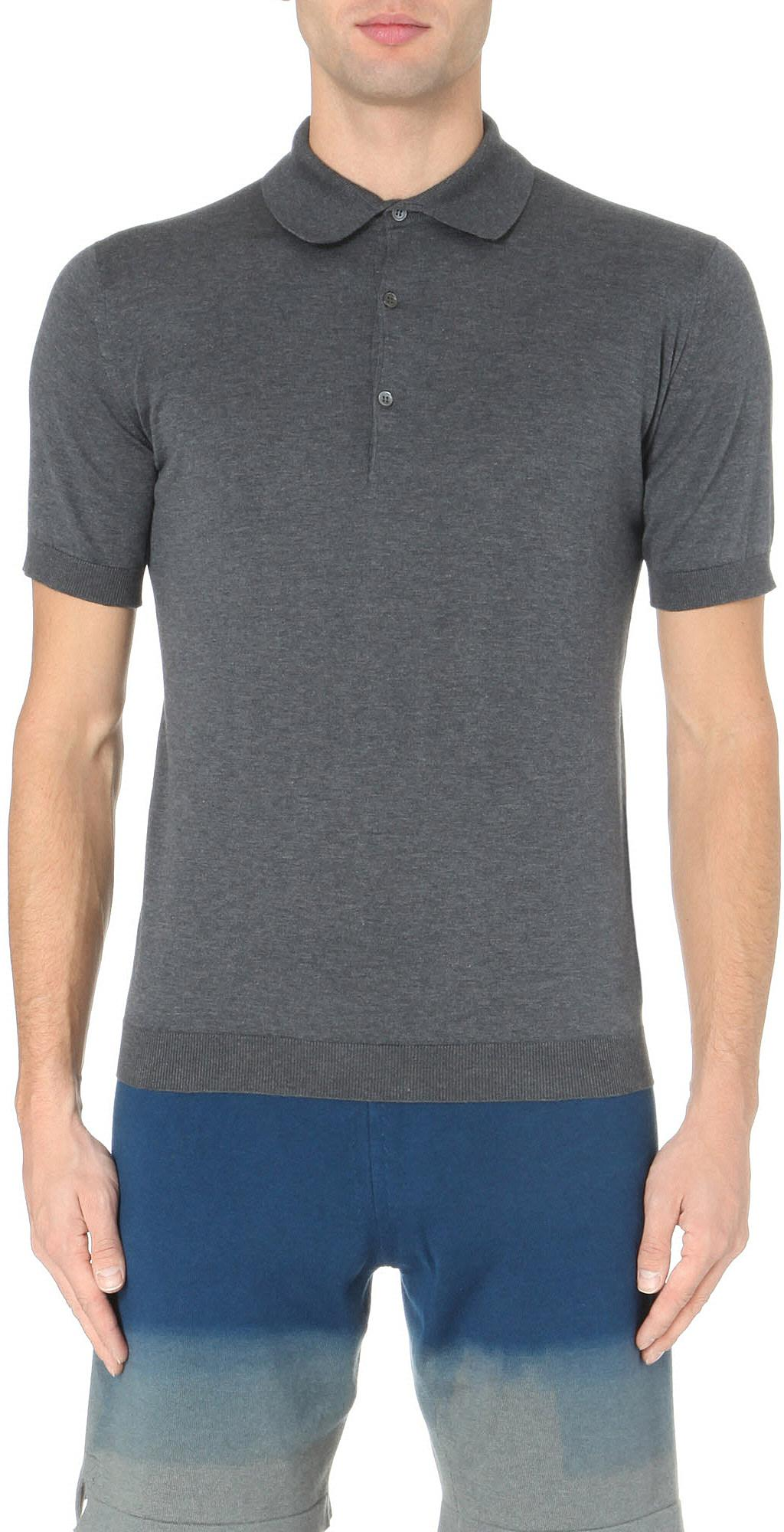65acd4d6 Lyst - John Smedley Adrian Cotton Polo Shirt in Gray for Men - Save 9%