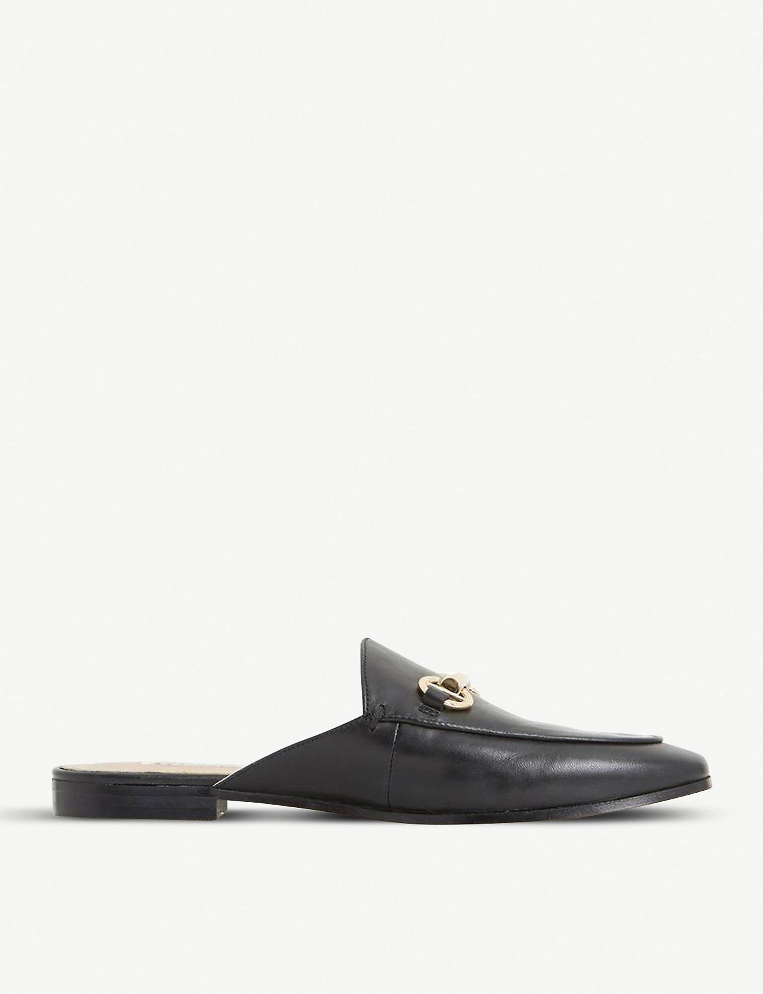 Dune Gene Leather Backless Loafers in
