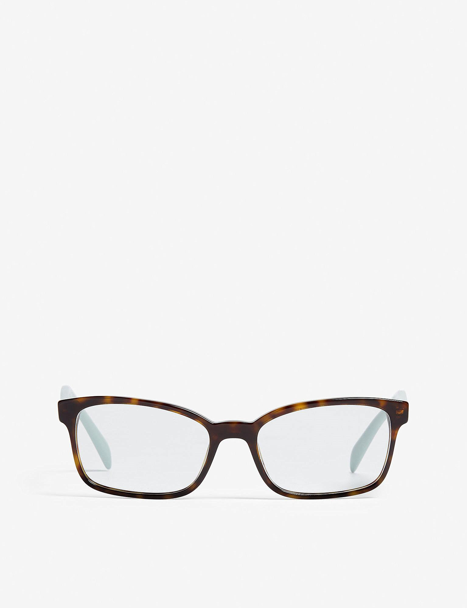 4784759562 Prada Womens Brown Pr18t51 Heritage Rectangle-frame Optical Glasses ...