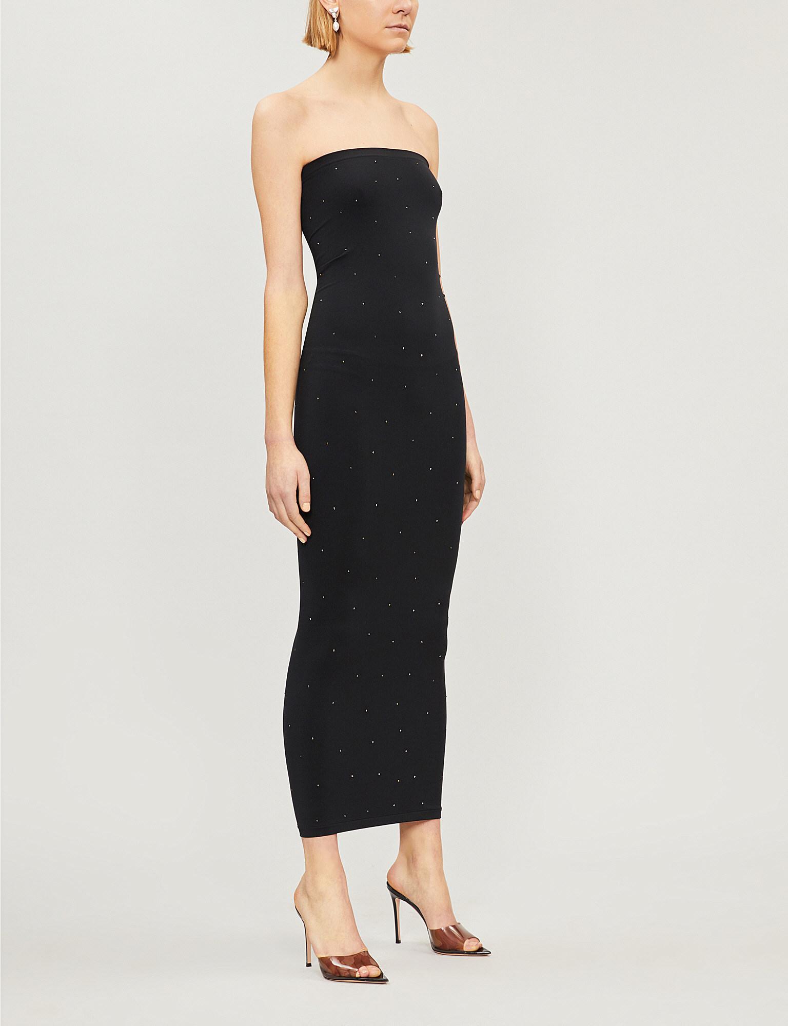 c36f896354 Lyst - Wolford Crystal Blaze Stretch-jersey Dress in Black