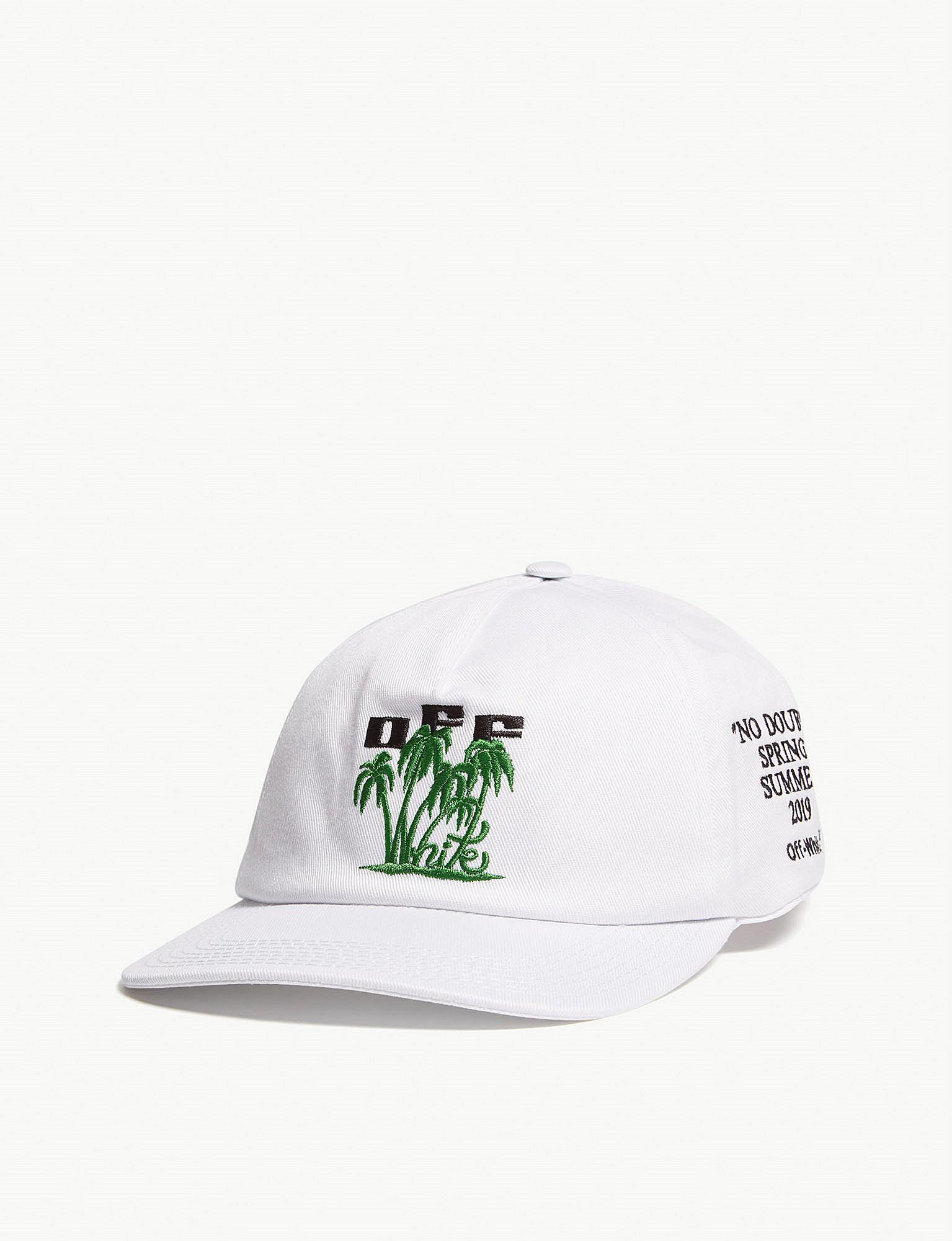 b2d4dd76d77 Off-White c o Virgil Abloh Island Cotton Baseball Cap in White - Lyst