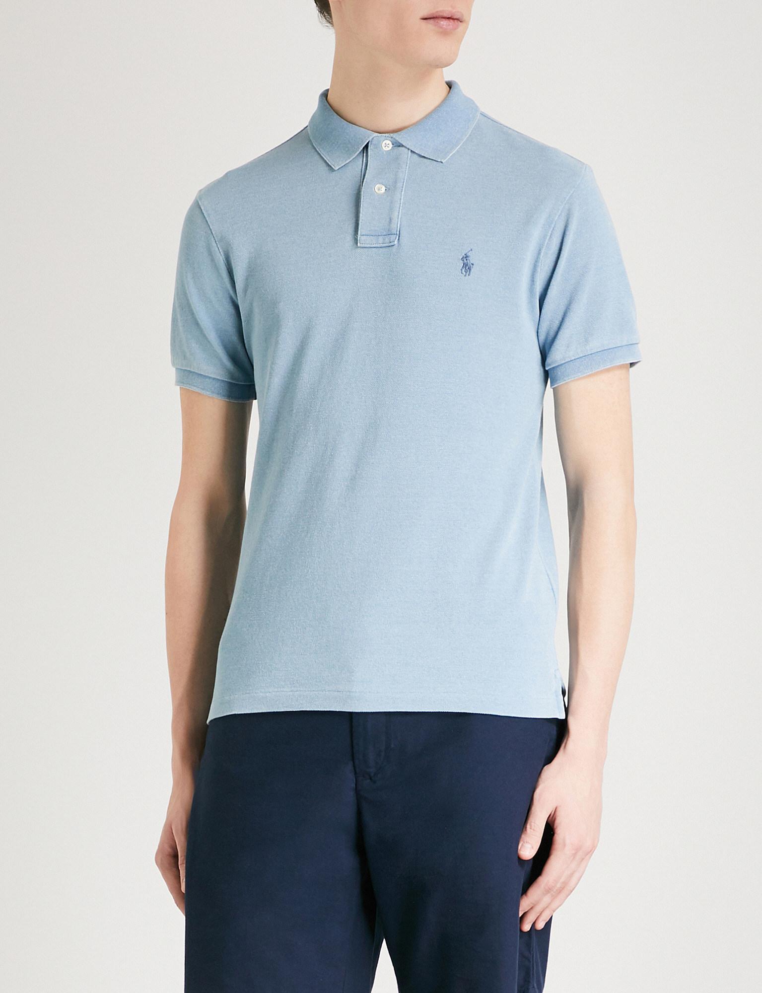 Ralph Lauren Slim-fit Cotton-piqué Polo Shirt - Light blue 3opcoad8