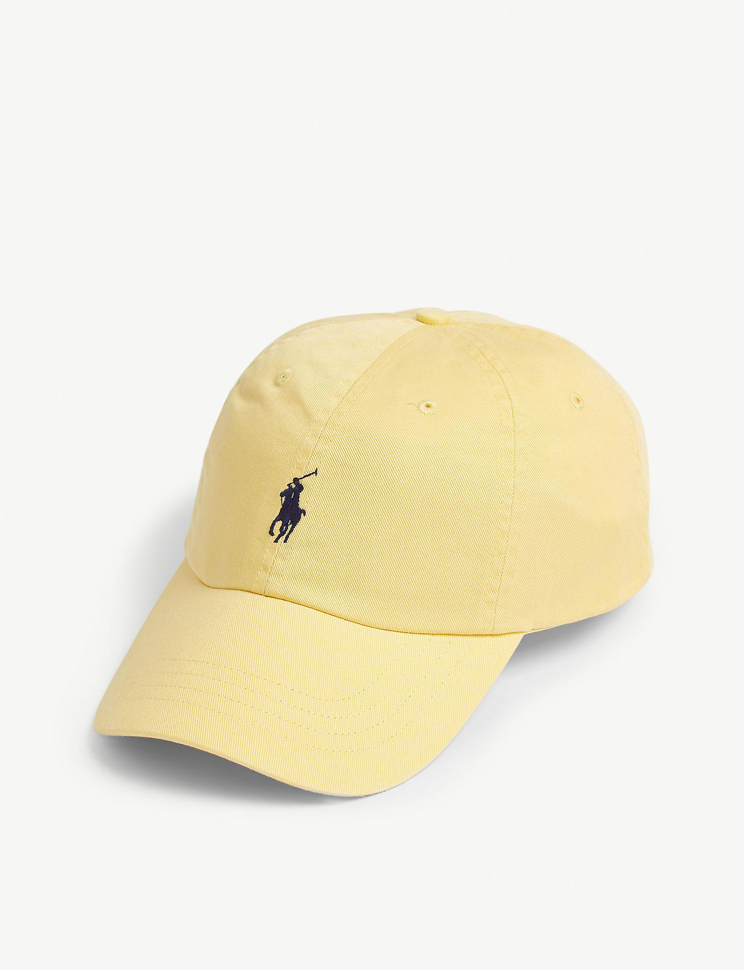 1d0e82caae54f Polo Ralph Lauren - Yellow Logo-embroidered Cotton Baseball Cap for Men -  Lyst. View fullscreen