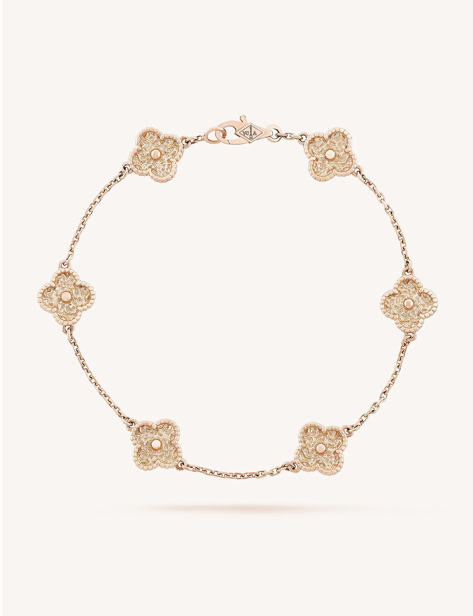 Van Cleef Arpels Women S Metallic Sweet Alhambra Gold Bracelet