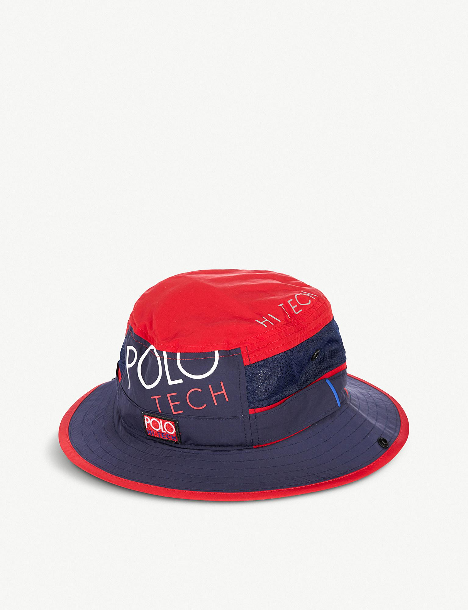 438276c0 Polo Ralph Lauren Hi Tech Booney Shell And Mesh Hat in Red for Men ...
