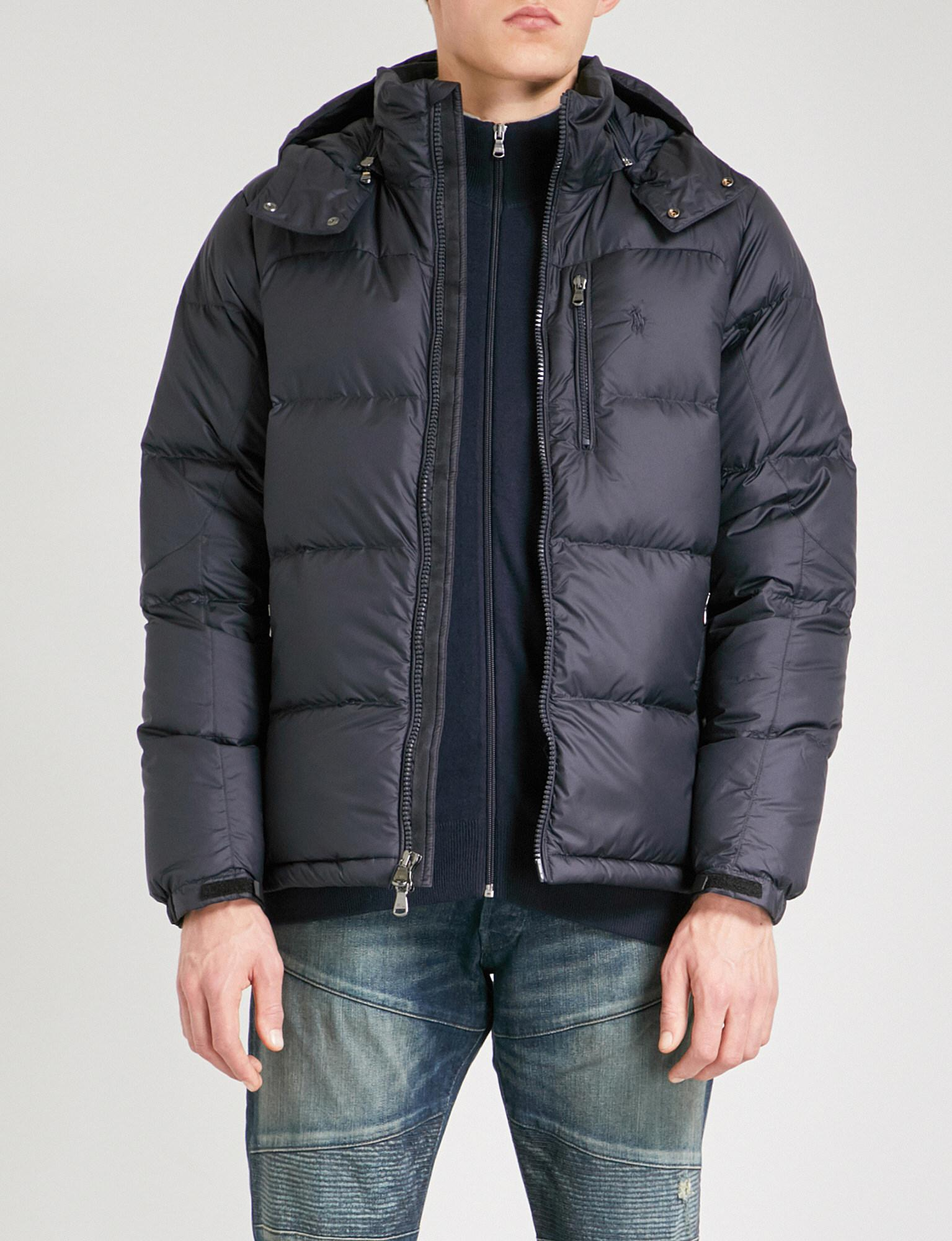 Polo Ralph Lauren Hooded Shell-down And Feather-blend ...