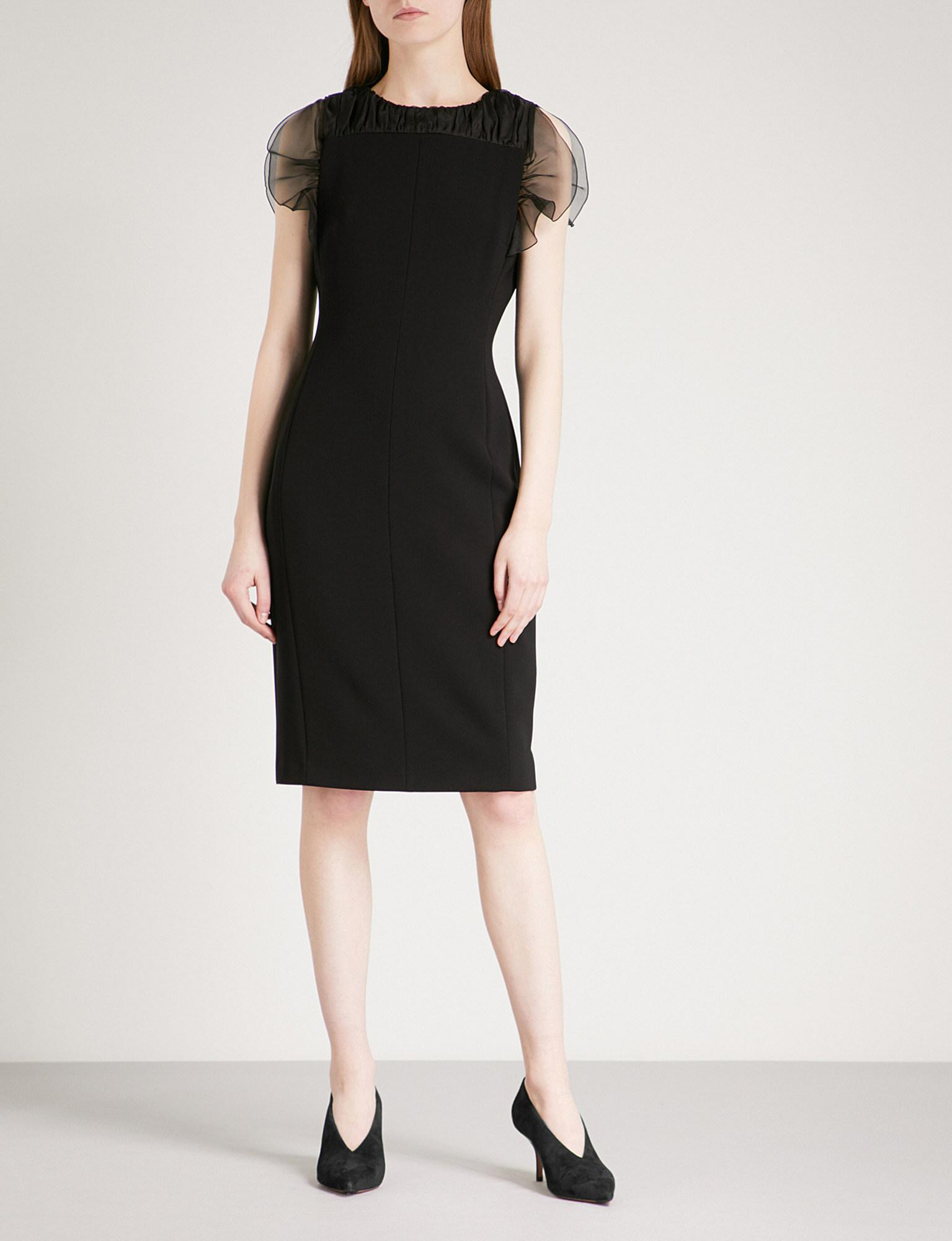 e41d22172d1 Max Mara Elegante Katana Silk-crepe Dress in Black - Lyst
