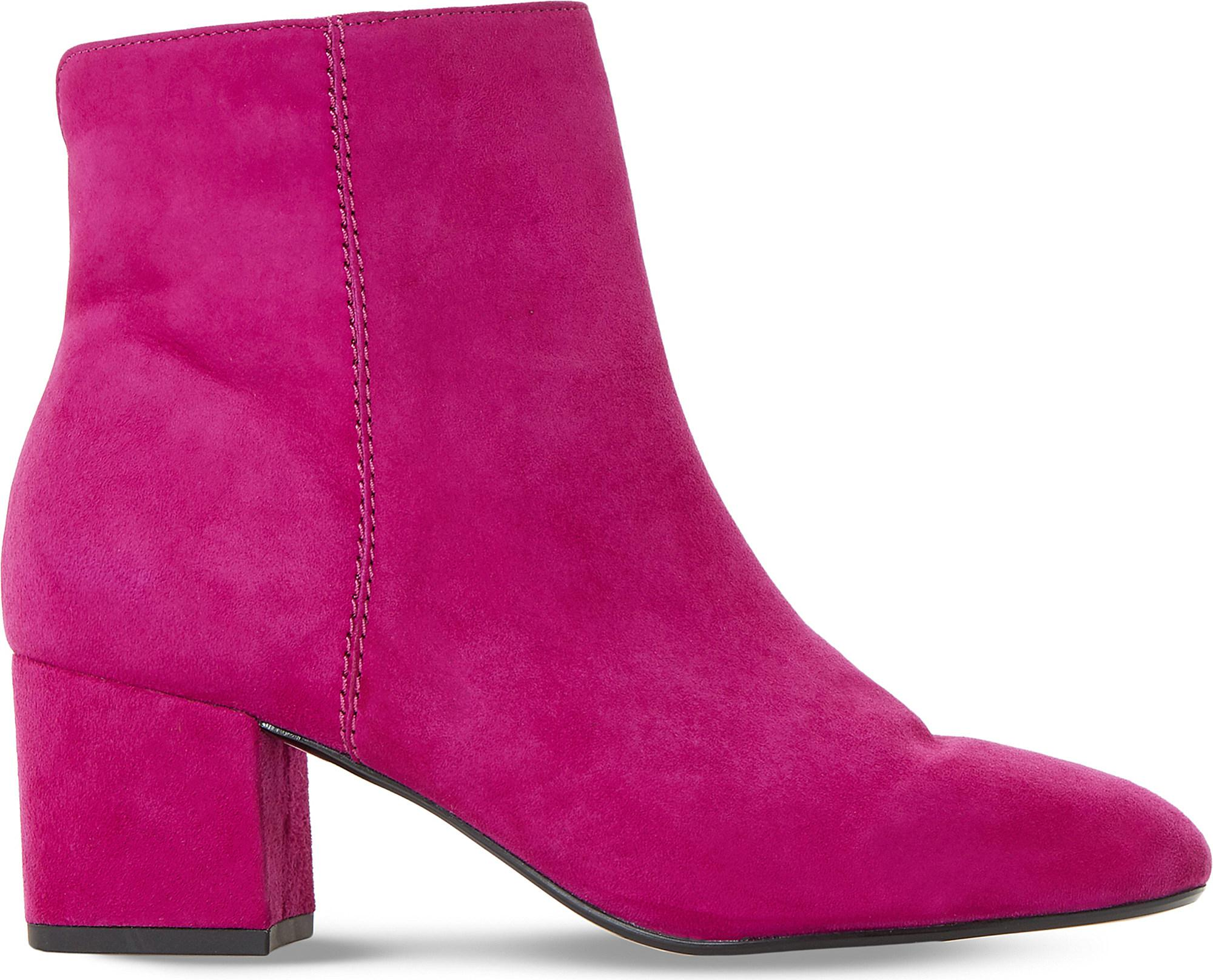 Dune Olyvea Suede Ankle Boots in Pink