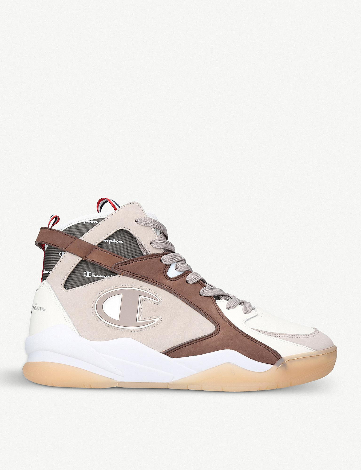 2f9383ae6cd72 Lyst - Champion Zone 93 High-top Leather And Suede Trainers