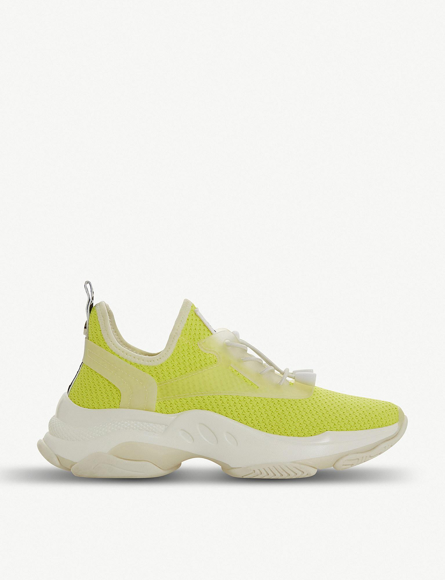 6bbd0e512 Steve Madden Match Stretch-knit Trainers in Yellow - Lyst