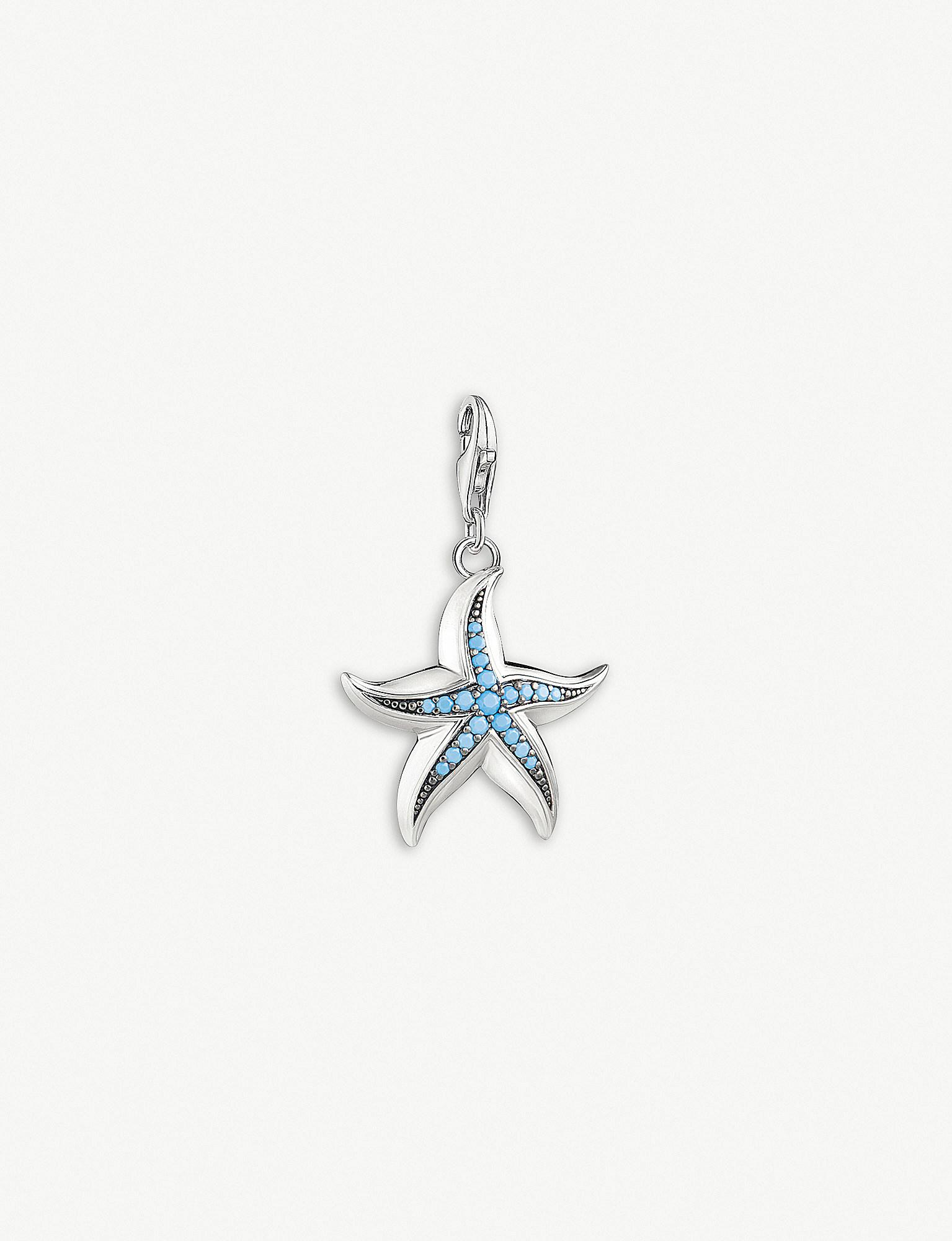 Thomas sabo starfish sterling silver and turquoise pendant in thomas sabo womens metallic starfish sterling silver and turquoise pendant aloadofball Gallery