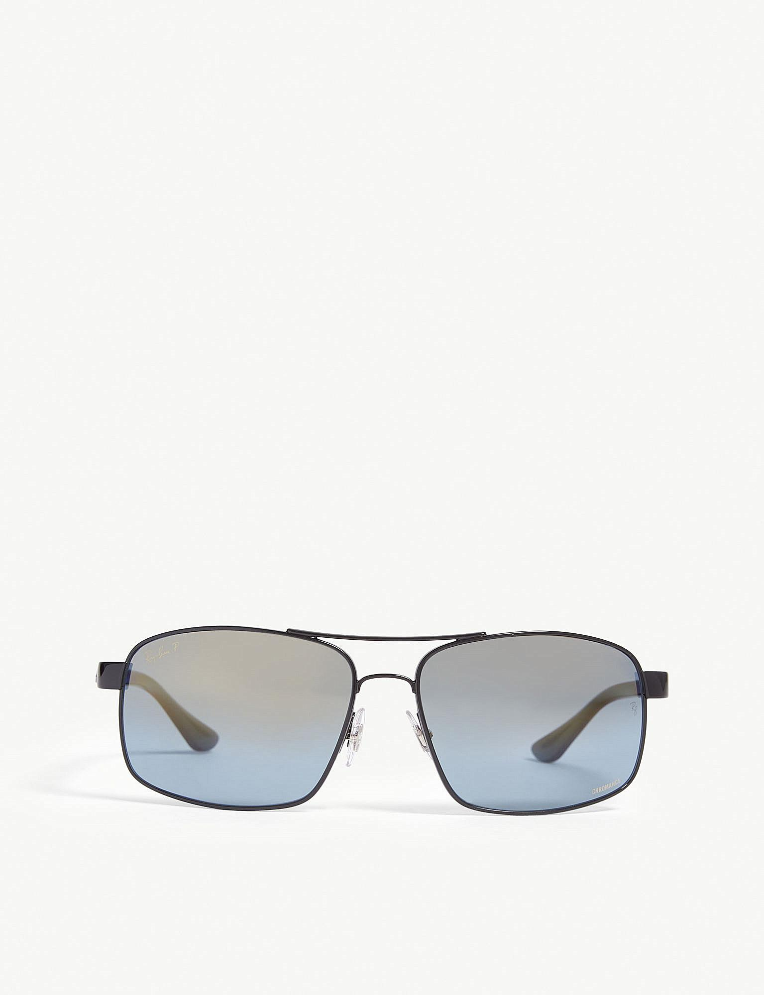 ac0ce17a44c Lyst - Ray-Ban Rb3604ch Square-frame Sunglasses in Black for Men