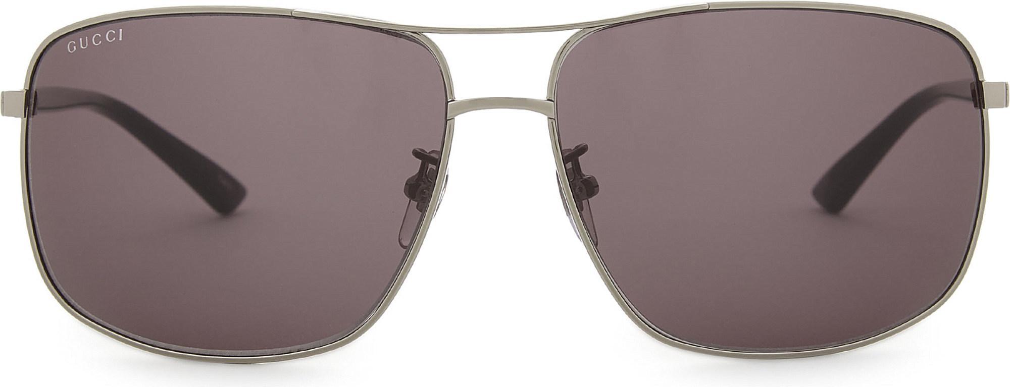 74546a58eed Gucci - Multicolor Gg0065sk Square-frame Sunglasses - Lyst. View fullscreen