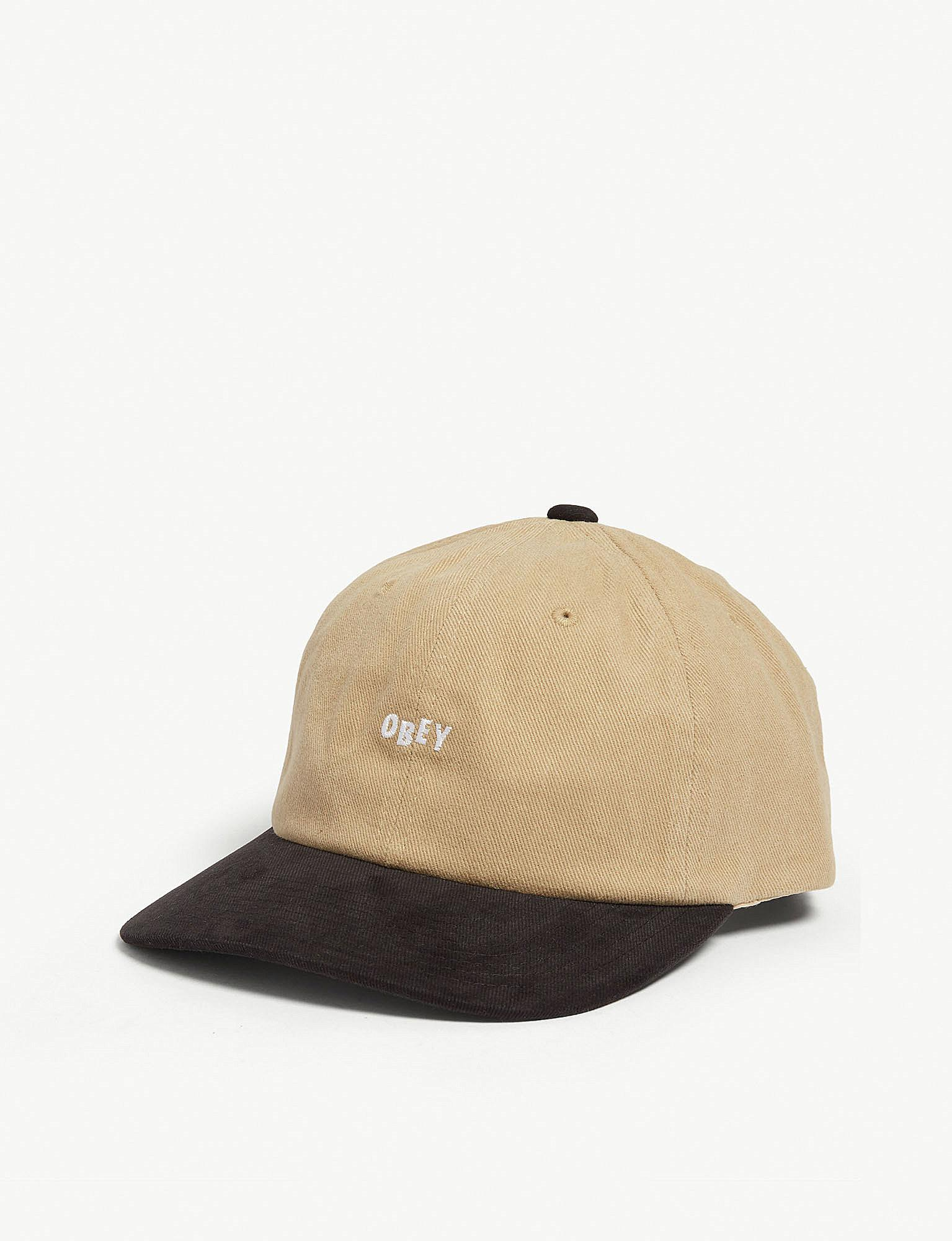 7cf05c8ad60 Lyst - Obey Jumble Cotton Snapback Cap in Natural for Men