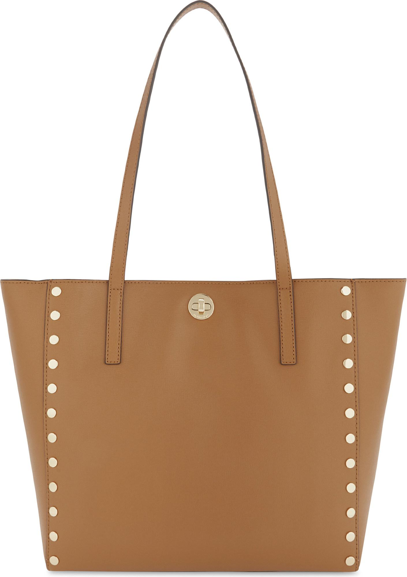 b15c53879cb6 Lyst - MICHAEL Michael Kors Rivington Studded Large Leather Tote in ...