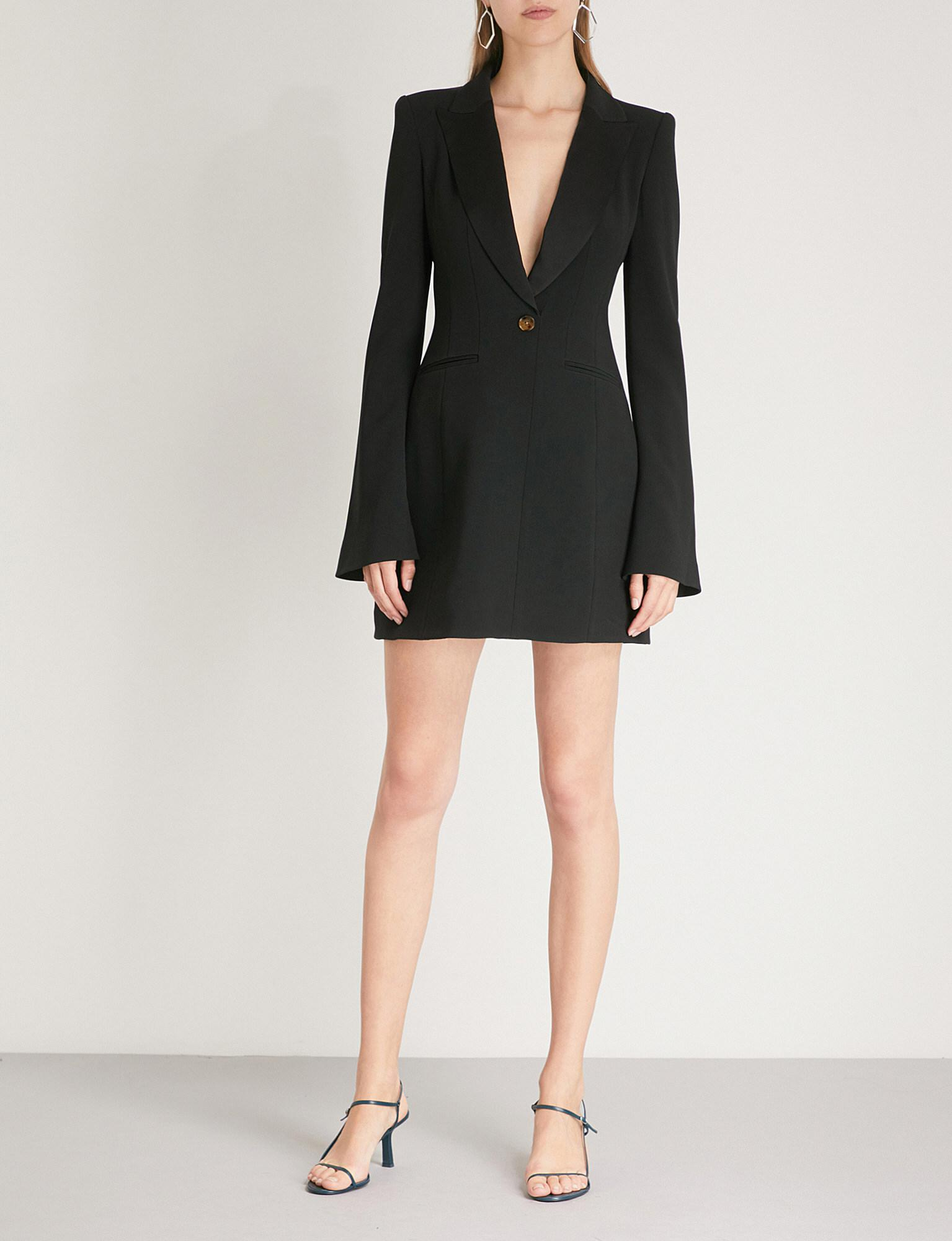 Natasha Crepe Mini Dress Khaite SAX71GU