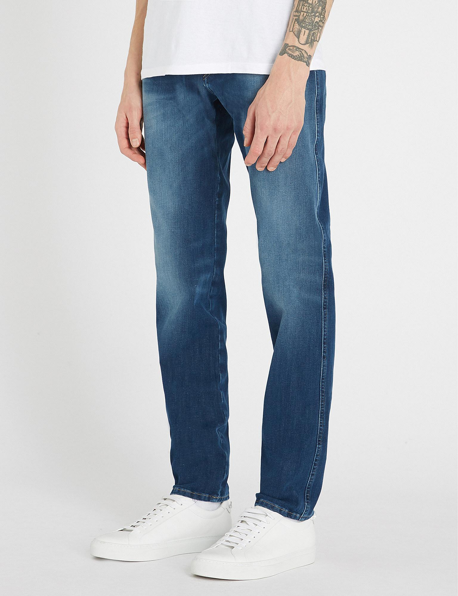 88160f00e27 Replay Hyperflex Plus Stretch-denim Jeans in Blue for Men - Lyst