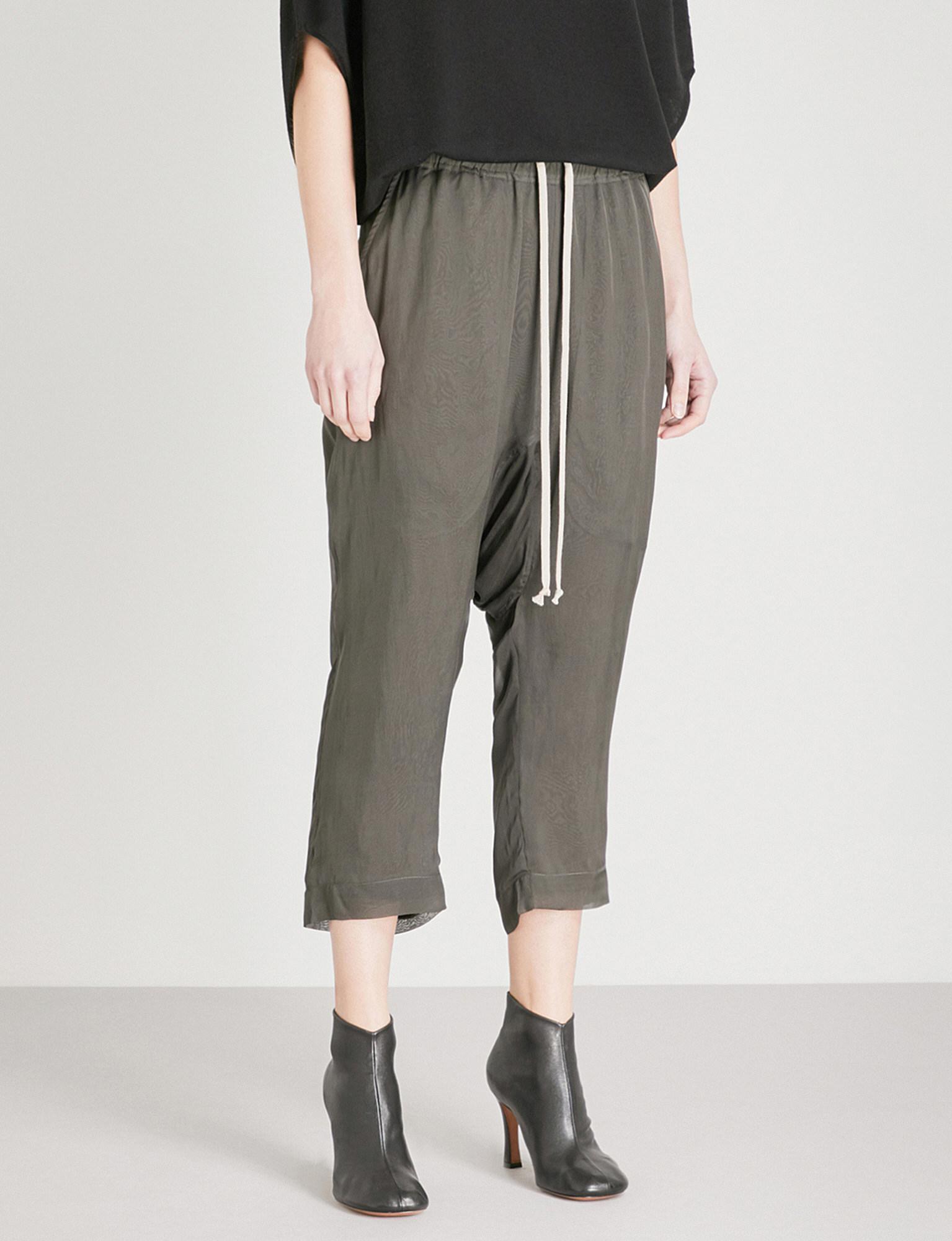 Womens Astair Stretch-Wool Drop-Rise Pants Rick Owens 5KPhzyDjzA