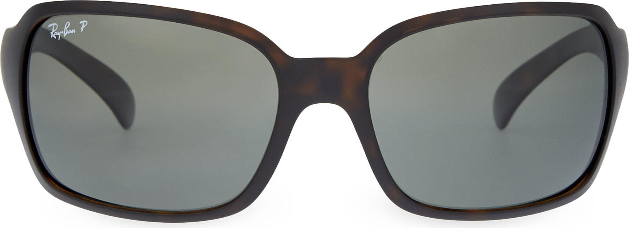 bb8f60aa5dc Lyst - Ray-Ban Rb4068 Square Sunglasses in Black