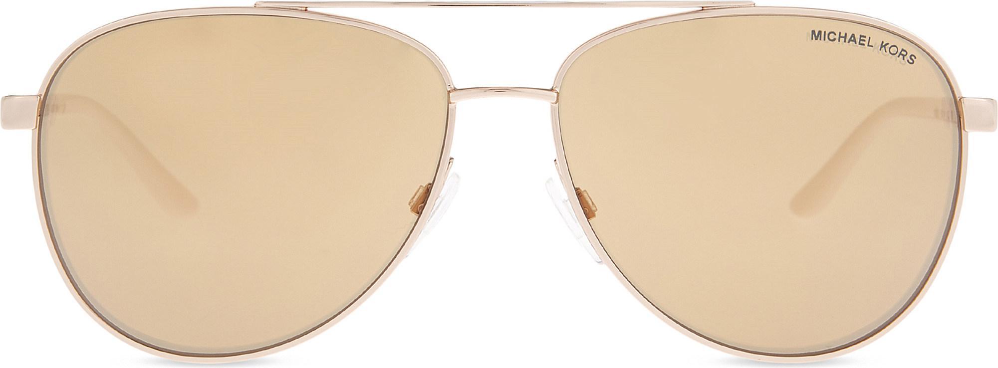 093d73cc318e5 Michael Kors - White Mk5007 Hvar Aviator Sunglasses - Lyst. View fullscreen