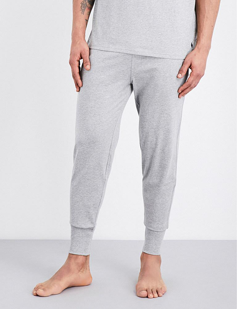 polo ralph lauren classic cotton jersey jogging bottoms in. Black Bedroom Furniture Sets. Home Design Ideas
