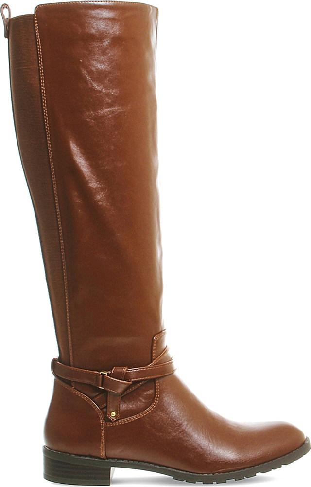 office kipper knee high boots in brown lyst