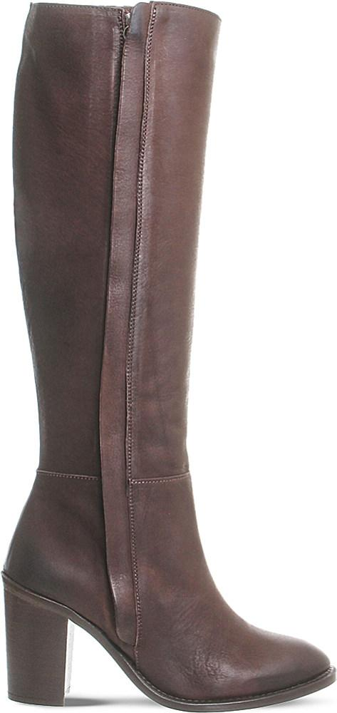 office kaiser knee high leather boots in brown lyst