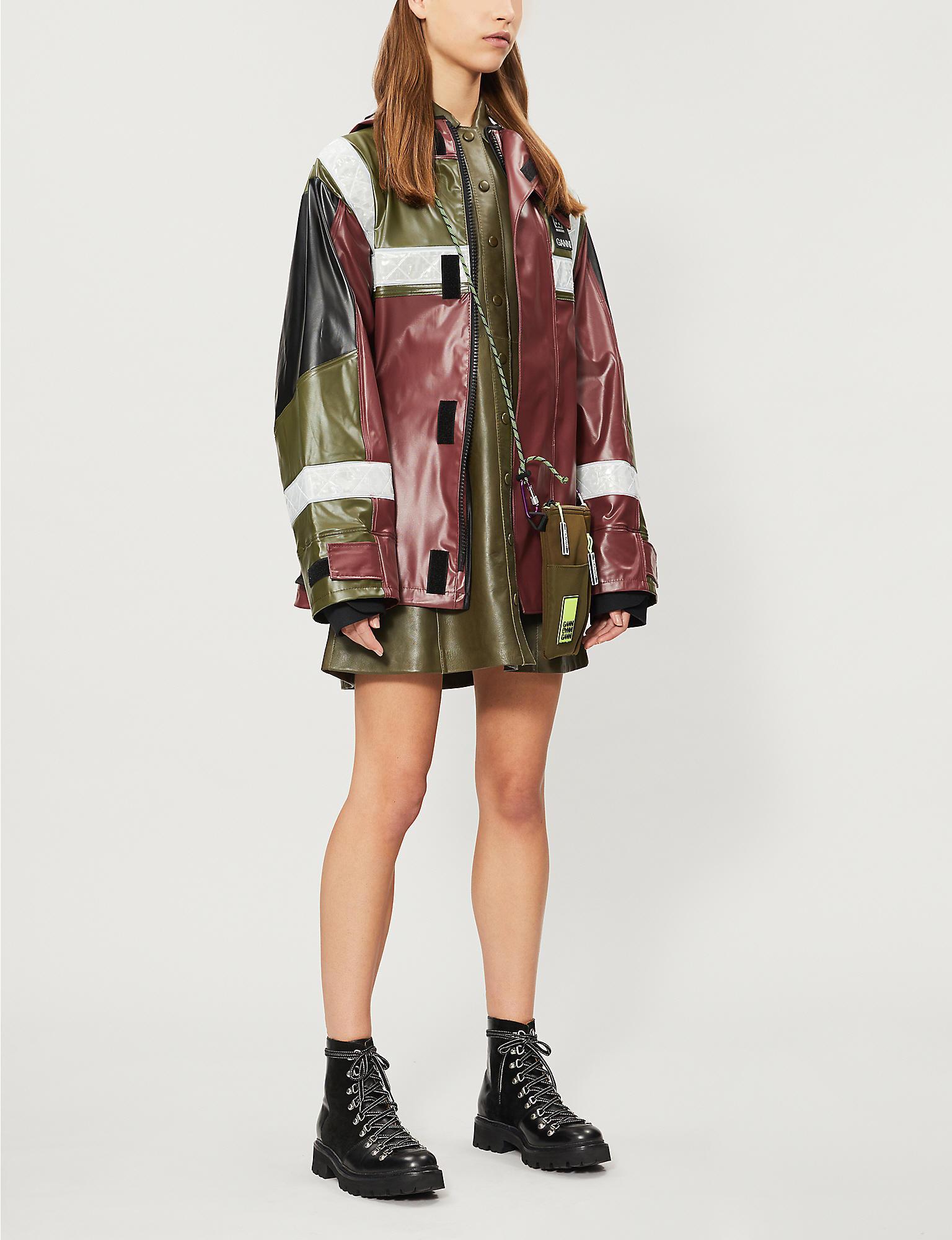 285652ab3 Ganni Multicolor X 66°north Flot Belted Shell Jacket