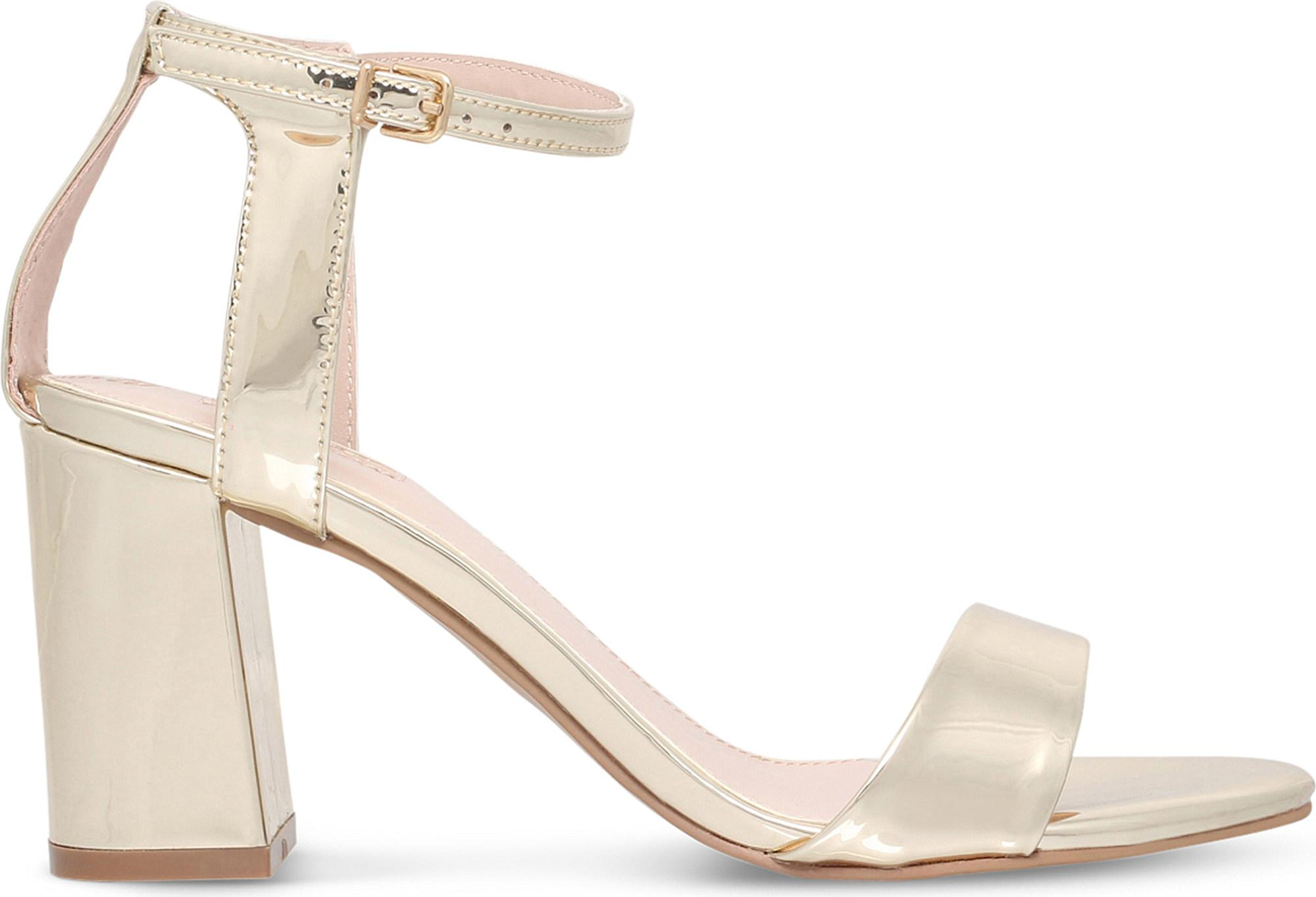 Gold CARVELA Gigi cut out mirrored sandals