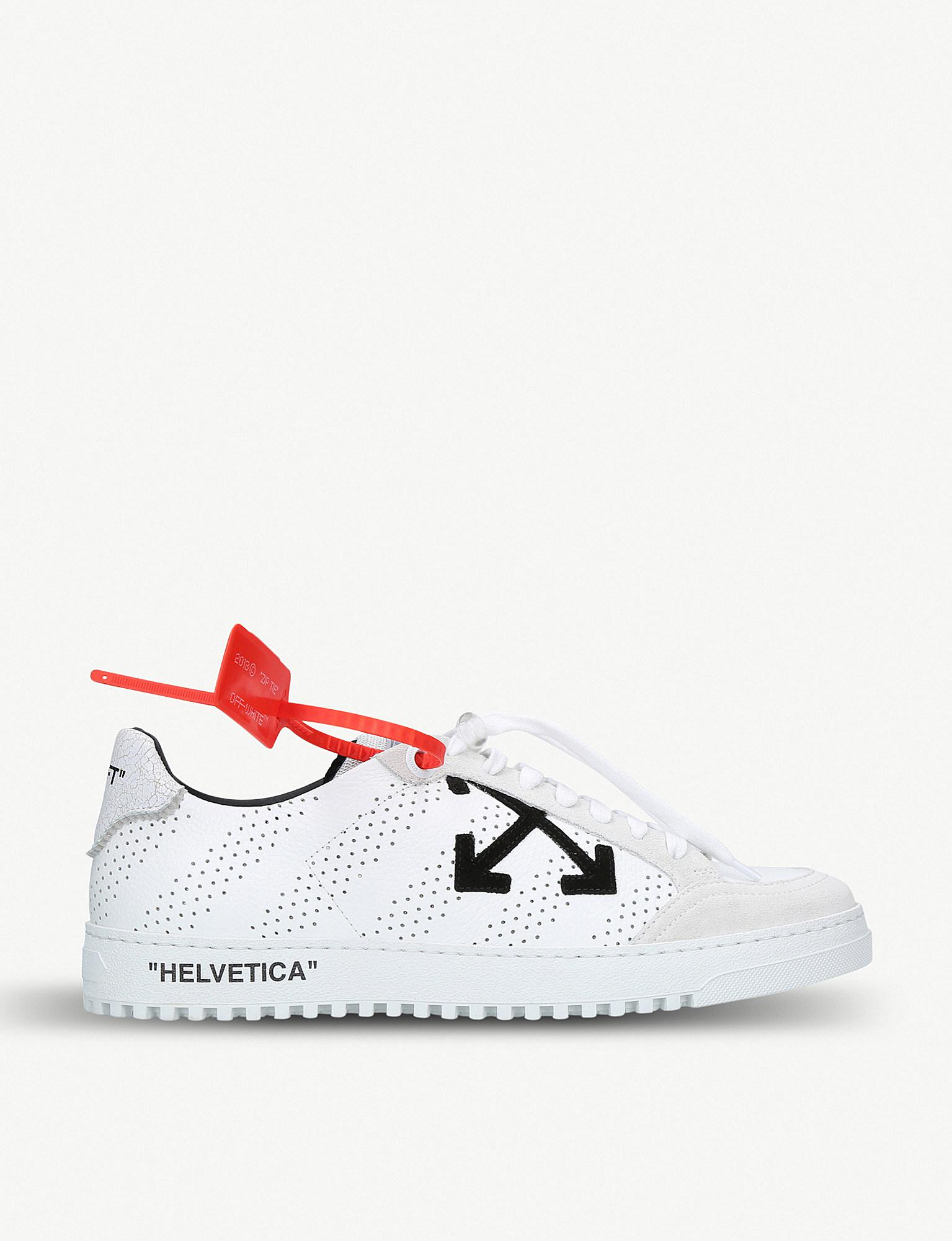 o Virgil Abloh 2.0 Lo Leather Trainers