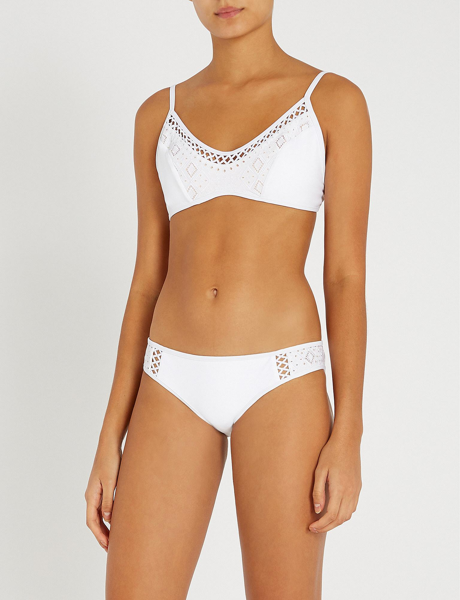 747ad33bf2 Lyst - Jets by Jessika Allen Indulgence Bikini Top in White