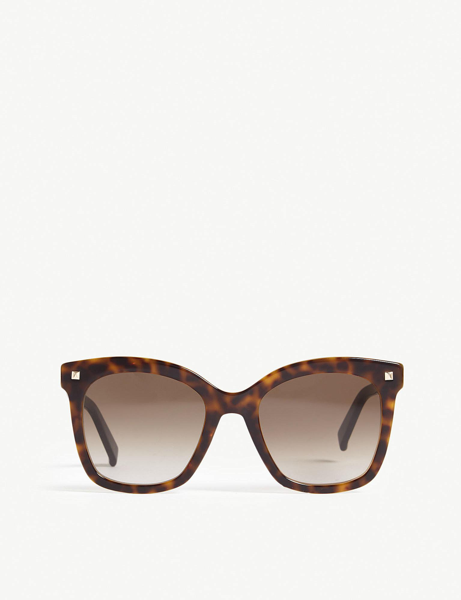1f0229216689 Lyst - Max Mara Dots Ii Square-frame Tortoiseshell Sunglasses in Brown