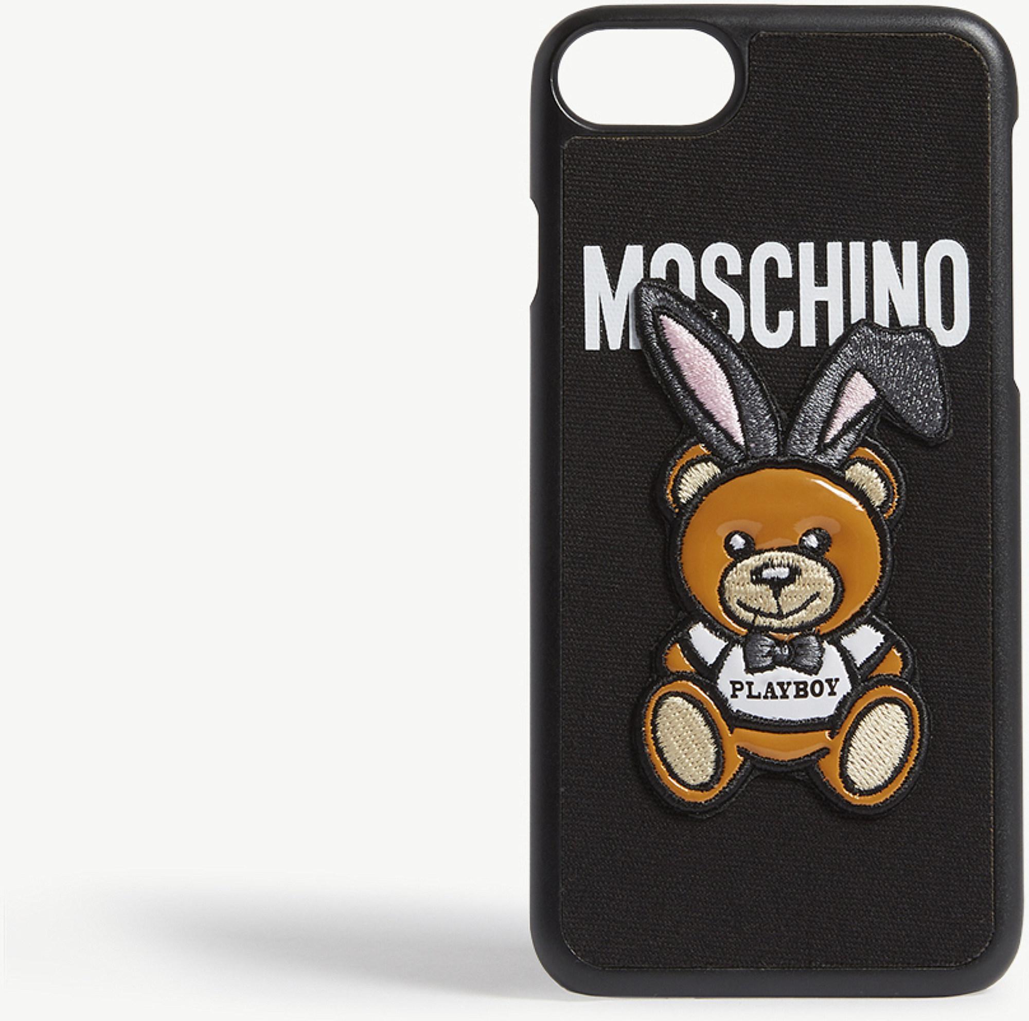 online store de8e3 e1e4f Moschino Black Playboy Teddy Iphone 7 Case