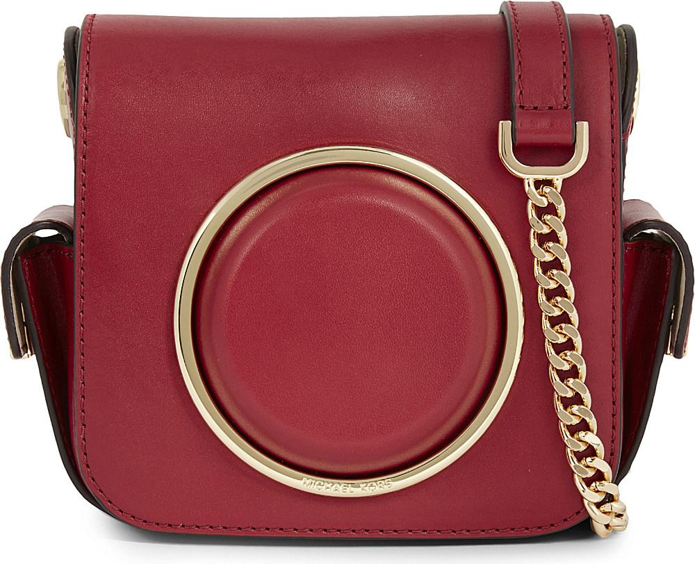 aaff967882ac MICHAEL Michael Kors Scout Leather Camera Bag in Red - Lyst