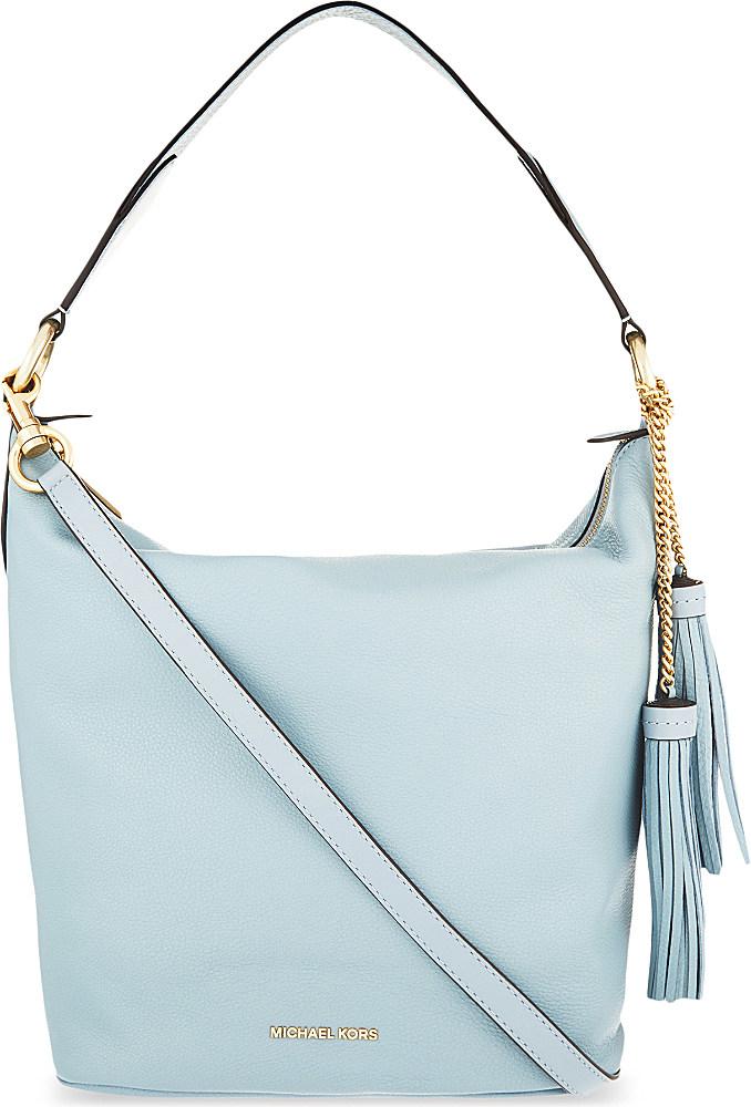 39aae9183fc4 MICHAEL Michael Kors Elana Large Convertible Leather Shoulder Bag in ...