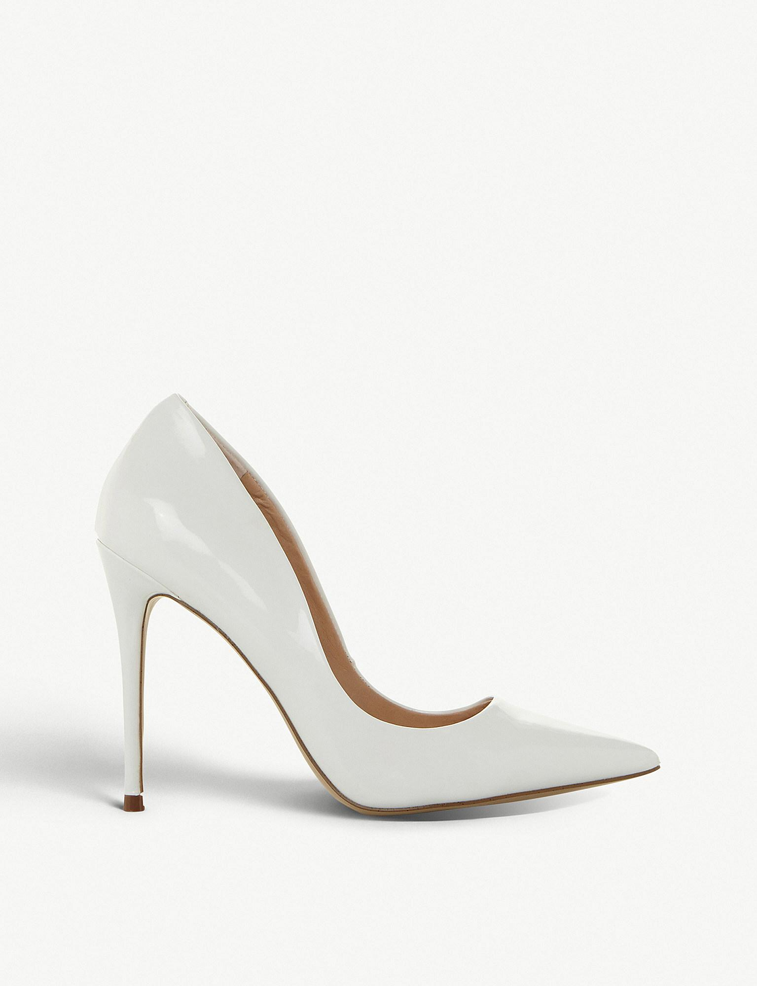 5ebd4c653a6d Steve Madden Daisie Pointed Toe Stiletto Heel Courts in White - Lyst