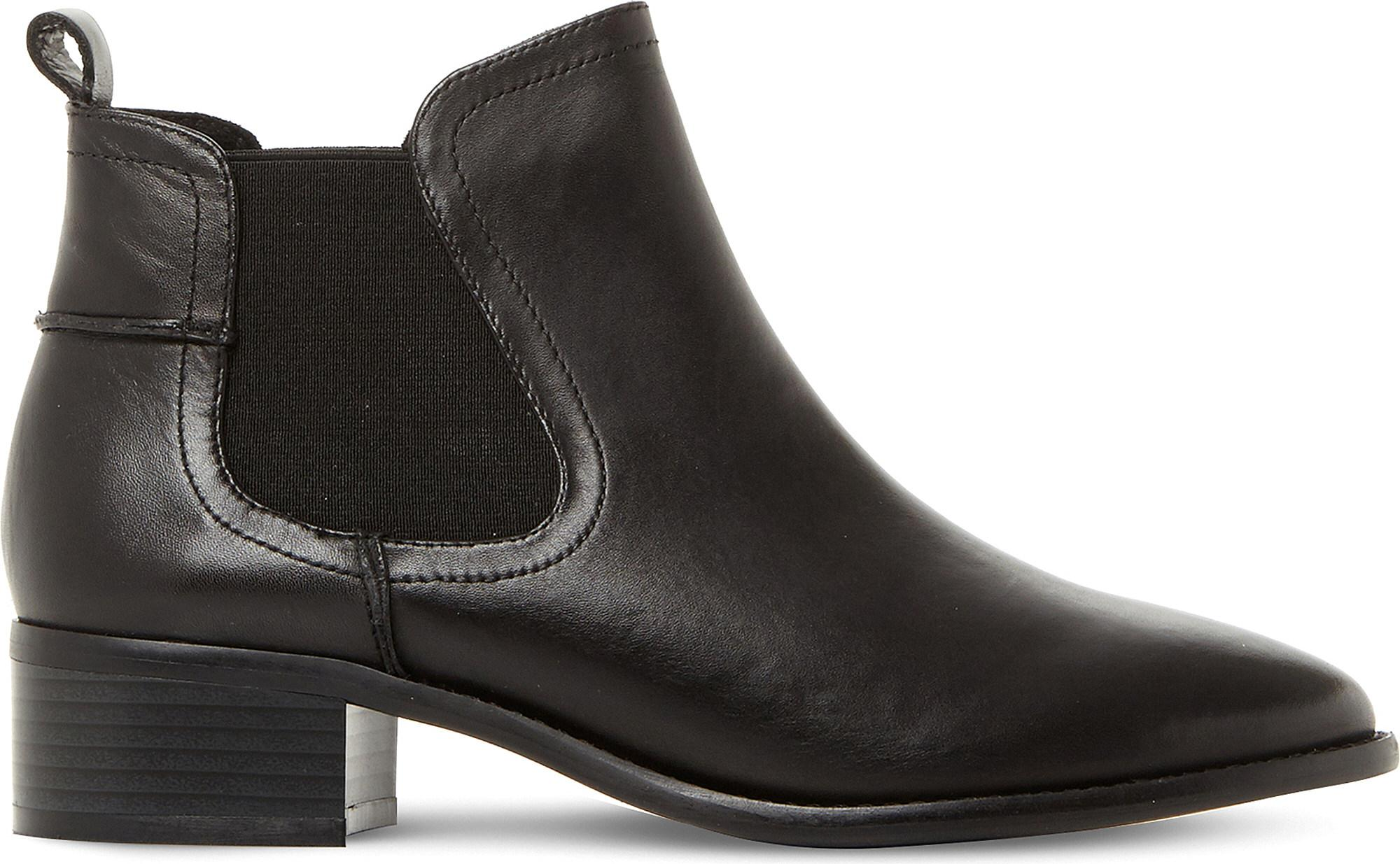 2d38853adbf Lyst - Steve Madden Dicey Sm Leather Chelsea Boots in Black