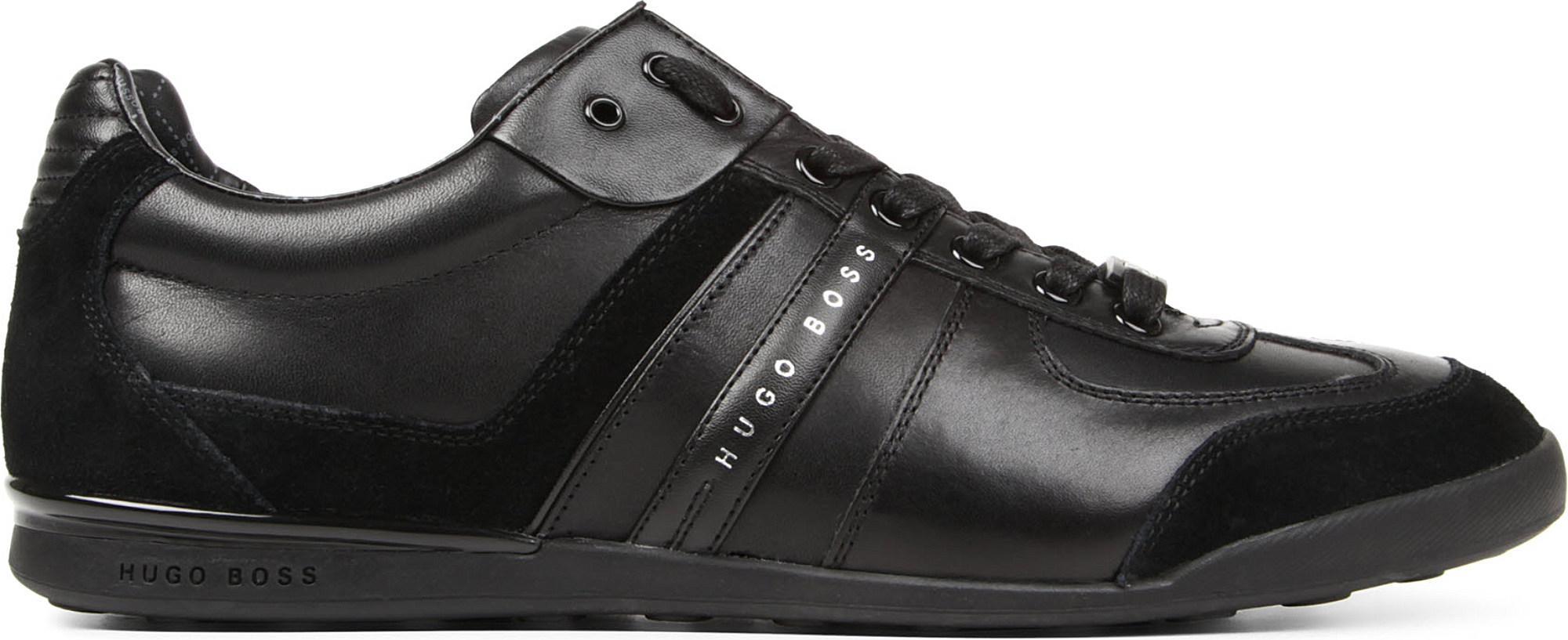 Hugo Boss Hugo Aki Leather Trainers