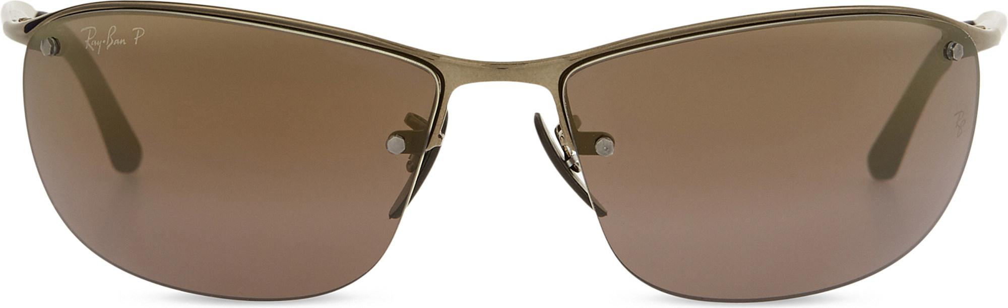 f808c92af98 Lyst - Ray-Ban Rb3542 Chromance Rectangle-frame Sunglasses in Brown ...