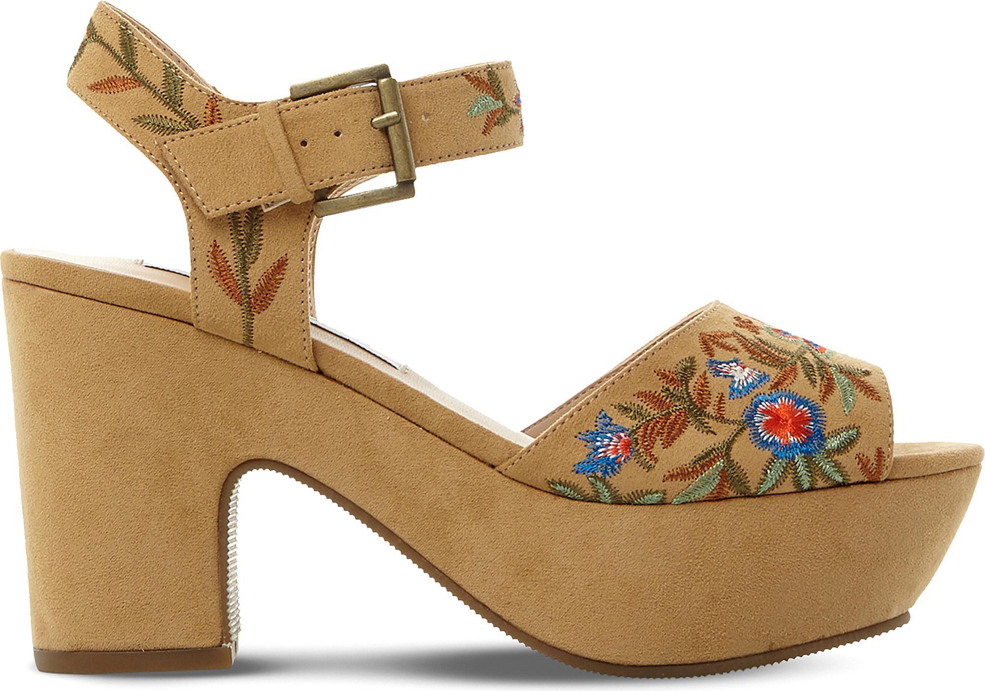 66dc5539067a Steve Madden - Multicolor Bonnie Embroidered Platform Sandals - Lyst